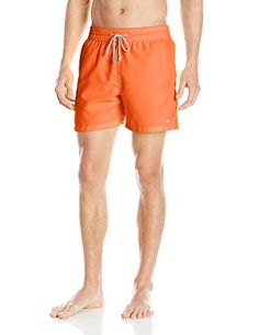 Introducing Le Club Mens Neon Solid Swim Trunk Neon Orange Small. Great Product and follow us to get more updates!