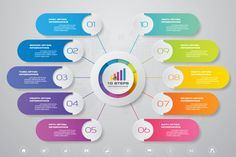 Infographic elements for content with icons. Infographic Powerpoint, Free Infographic, Infographic Templates, Circle Infographic, Infographics Design, Health Infographics, Powerpoint Slide Designs, Powerpoint Design Templates, Powerpoint Background Design