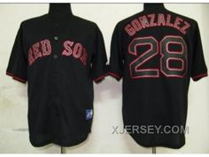 http://www.xjersey.com/new-arrival-mlb-boston-red-sox-28-gonzalez-black-fashion.html NEW ARRIVAL MLB BOSTON RED SOX #28 GONZALEZ BLACK FASHION Only $34.00 , Free Shipping!