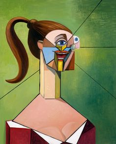 George Condo at Xavier Hufkens (Contemporary Art Daily) Contemporary Art Daily, Contemporary Paintings, Modern Art, George Condo, Geometric Sculpture, Art Sketchbook, Urban Art, Art World, Art Day