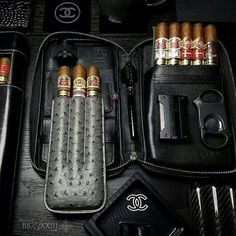 Good Cigars, Cigars And Whiskey, Leather Cigar Case, Like A Sir, Cigar Art, Cigar Club, Cigar Cases, Cigar Accessories, Cigar Room