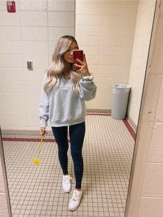 Outfits Leggins, Cute Outfits With Leggings, Cute Lazy Outfits, Teenage Outfits, Teen Fashion Outfits, Dope Outfits, Cute Casual Outfits, Outfits For Teens, Comfy Legging Outfits