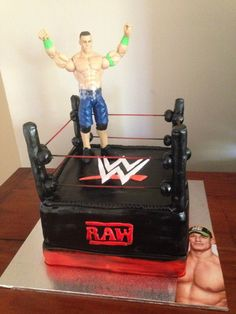 WWE cake I have to post my friends cake She does such a beautiful