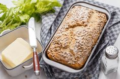 Cooking Bread, Cooking Recipes, Healthy Recipes, Muffin Bread, Bread And Pastries, No Bake Cake, Banana Bread, Bakery, Food And Drink