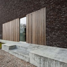 Slatted timber screen