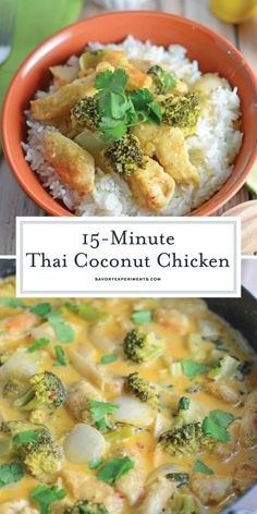 Thai Coconut Chicken Recipe - An Easy, Healthy & Fast Dinner Recipe - Coconut Thai Chicken is a easy dinner recipe made with coconut milk, broccoli, ginger and more flavorful spices. Dinner is ready in just 20 minutes! Healthy Chicken Curry, Thai Coconut Chicken, Thai Chicken, Coconut Chicken Recipe Healthy, Chicken Broccoli, Fast Dinner Recipes, Fast Dinners, Fast Recipes, Easy Chicken Recipes