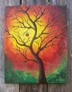 The Last Apple on the tree Original Acrylic by GulfportArtist, $18.00