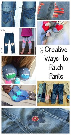 15 DIY Creative Ways to Patch Pants, leggings and Pjs from Nap-Time Creations great sewing crafts tutorial