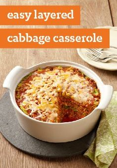 Easy Layered Cabbage Casserole – Casseroles are easy. Stuffing cabbage is hard. In this recipe, you get stuffed cabbage flavor with casserole simplicity.