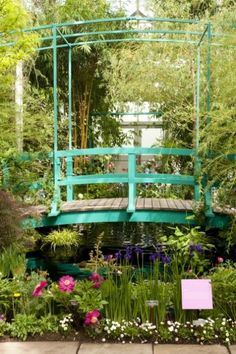 The most iconic image of Monet's garden, seen in many of his most famous Giverny paintings, is the Japanese bridge. The original, inspired by Japanese woodblock prints that decorated Monet's house, was built by local craftsmen.    A reproduction is now the centerpiece of The New York Botanical Garden's tribute to Monet.