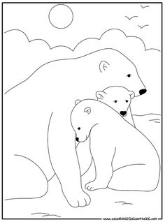 Polar Bear Party, Bear Sketch, Abc Coloring Pages, Fair Theme, Polar Animals, Bear Crafts, Bear Illustration, 3d Laser, Winter Crafts For Kids