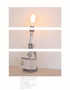Up cycled microscope lamps by RI-STOR lamps! $200-$400