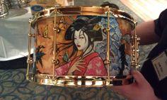 Custom painted drum