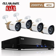 4a8d05445db6 EZVIZ 4-Channel 1080p 1TB Hard Drive Video Security Surveillance System  with 4 1080p Cameras
