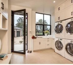 For a large family. Big laundry room.