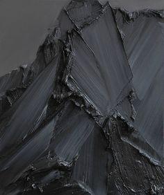 Big nasty globs of black paint