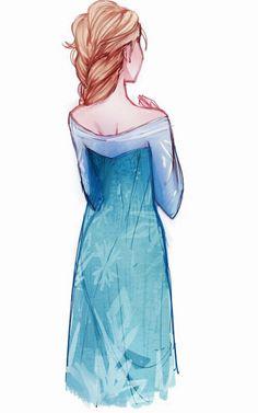 Elsa #disney #frozen #fanart Jack Frost And Elsa, Frozen Elsa And Anna, Disney Frozen, Elsa Anna, Disney Fan Art, Disney Style, Disney Love, Snow Queen, Ice Queen