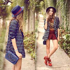 As Marias Blazer, Fernanda Gregorin Bag, Asos Hat, Carrano Shoes