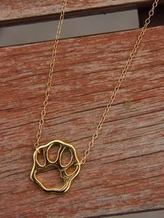 18k gold dipped paw necklace. LOVE this! http://puppyhoney.com/products/gold-paw?src=PIN_ILDS_GoldPaw