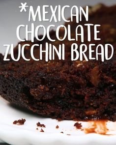 Mexican Chocolate Zuchini Bread Kuchen Mmh lecker, Andrea Thiel, Kuchen Mmh lecker Zucchini & chocolate, featuring pumpkin seeds, is the . Yummy Recipes, Easy Cake Recipes, Easy Desserts, Mexican Food Recipes, Dessert Recipes, Frosting Recipes, Oreo Dessert, Butter Frosting, Buttercream Frosting
