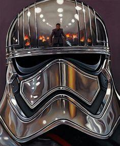 HELMET REFLECTIONS - CAPTAIN PHASMA Star Wars Celebration, Star Wars Girls, Star Wars Fan Art, Star Trek, Star Wars Images, Star Wars Wallpaper, Star Wars Poster, Chicago, Clone Wars
