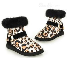 Boots, Sexy Leopard  Snow Boots with Buckle, $71.99