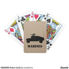 MARINES Poker Cards