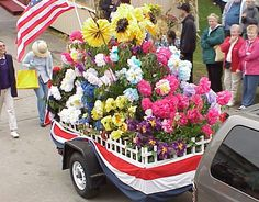Love this idea for a garden club parade float!