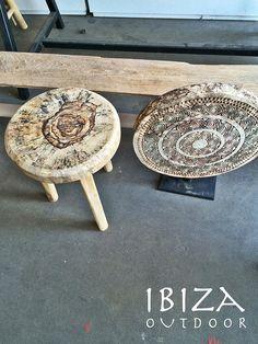 bijzettafel en houten wandpaneel | by Ibiza Outdoor