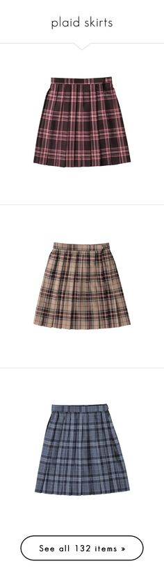 """""""plaid skirts"""" by neopetsgirlfriend ❤ liked on Polyvore featuring skirts, bottoms, clothes - skirts, brown skirt, blue skirt, clothing - bottoms, short skirts, red skirt, clothing - skirts and plaid skirt"""