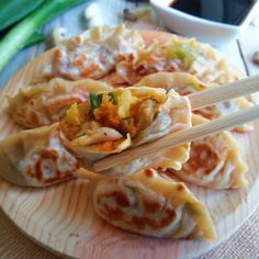 Vegan Potstickers – Recipe - Good Tips About Life Veg Recipes, Dairy Free Recipes, Whole Food Recipes, Vegetarian Recipes, Cooking Recipes, Healthy Recipes, Healthy Options, Salad Recipes, Veggie Potstickers