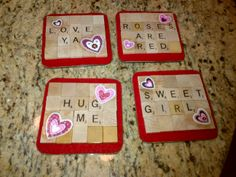 Valentines Day coasters-for Lovers!