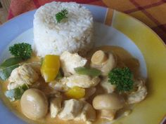 Hähnchen-Paprika-Ragout mit Reis