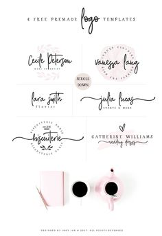 Glorious Font Duo + Extras by Inky Jar Design Studio on Creative Market - SALE! Glorious Font Duo + Extras by Inky Jar Design Studio on Creative Market - Logo Café, Logo Branding, Branding Design, Font Logo, Business Logo Design, Handwritten Logo, Wedding Logo Design, Bakery Logo Design, Design Logos