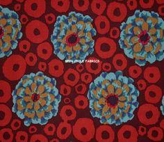 1 Fat Qtr KAFFE FASSETT BUBBLE FLOWER GP97 TEAL Rings Westminster Quilt Sew #WestminsterFabrics