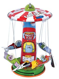 Uglydoll - Official Online Store - UGLYDOLL™ ROCKET RIDE, Wind-Up Tin Toy