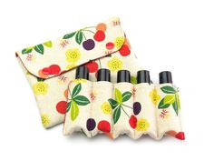 Essential Oil Pouch, Essential Oil Roller Bottles Bag, Essential Oil Bag, Essential Oil Case, Essential Oil Storage, Natural Cherries