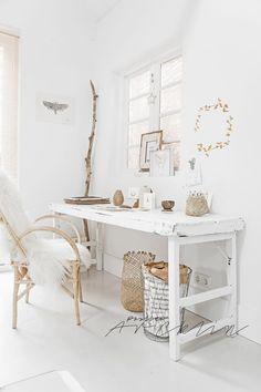 Espacio de trabajo de estilo escandinavo, decoratualma