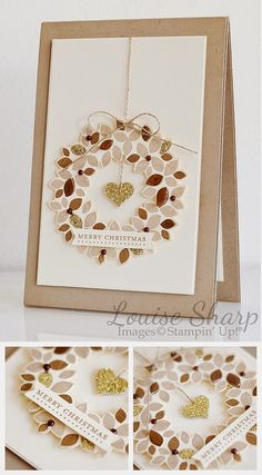 Louise Sharp | Rustic Wondrous Wreath | Stampin' Up! | Merry Monday Challenge #133