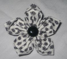 white and black flower