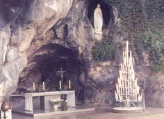 The Grotto of Massabielle (Lourdes, France)