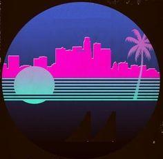 Ideas tree graphic design illustrations colour for 2019 New Wave, New Retro Wave, Retro Waves, 80s Neon, 80s Design, Pochette Album, Tree Graphic, Retro Futuristic, Graphic Design Illustration