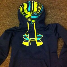 Colorful under armour hoodie!