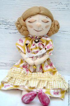 Dreamy Toy Angel / Мечтательный ангел - кукла ручной работы, винтажный стиль, кукла тыквоголовка
