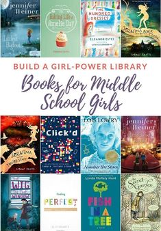 My daughter is an avid reader (like mama!) and I love feeding her books filled with empowering young girl characters! Here's what you'll find in her 'girl-power' library – tons of books for middle school girls that you'll love to read with your daughter! Middle School Books, Middle School Libraries, Elementary Library, Elementary Schools, Books For Tween Girls, Good Books For Tweens, Books For Children, English Books For Kids, Kids Chapter Books
