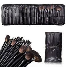 cool eBoTrade-Tech Super Professional Studio Brush Set with Pouch, Gift idea BLACK 32PCS