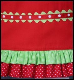 rick rack sewn both on top & bottom of ribbon...WTG Kathy D!