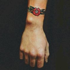 Small old school flower tattoo