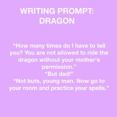 Writing prompt: dragon