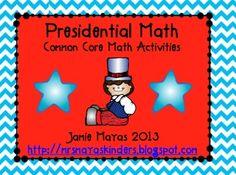 President's Day Math activities